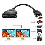 HDMIケーブル 1080P オス-デュアルHDMIメス マルチメディアインターフェース HDMIスプリッタアダプタ 1~2ウェイ HDMI HD LED LCD TV用