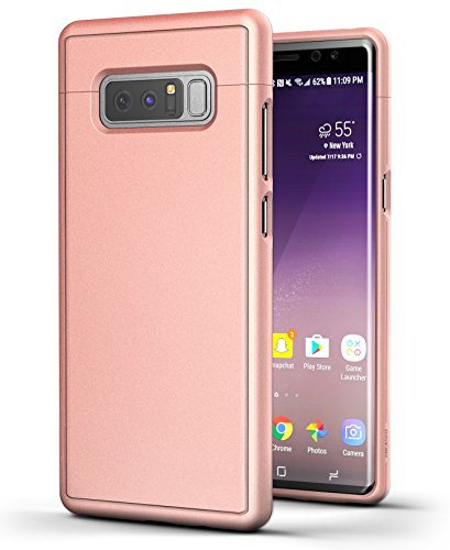 Encased Galaxy Note 8 Case Rose Gold [Slim Shield Edition] Ultra Thin Protective Grip Phone Case for Samsung Galaxy Note8