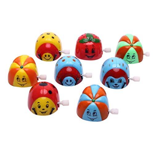 Amosfun 8 Stück Aufzieh-Spielzeuge mit Uhrwerk, Käfer, Spielzeug für Geburtstag, Party, Gastgeschenke, Geschenktüten, Filer, zufällige Muster