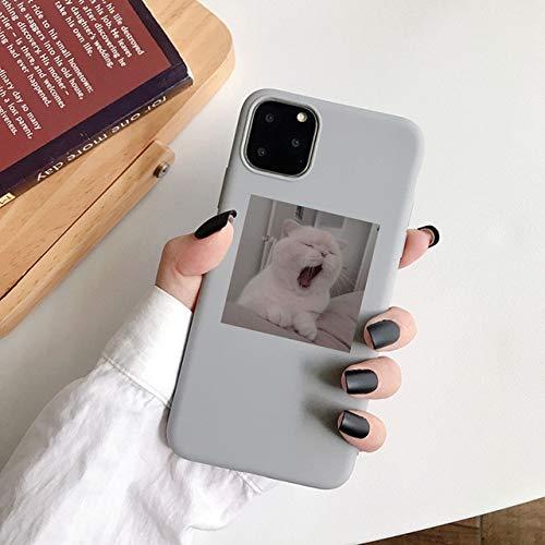 TDG Fundas TPU Soft Cute Cat Phone Back Cover para iPhone 11 Pro MAX para Apple iPhone 12 XS MAX XR X 7 8 6S Se 2020 7Plus Funda para iPhone 6 6S 11