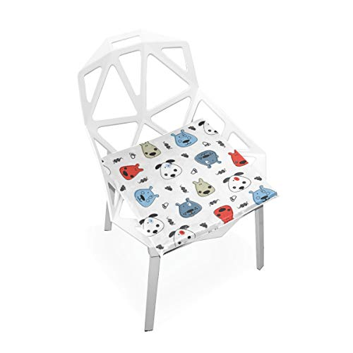 SLHFPX Seat Cushion Colorful Funny Dogs Chair Cushion Offices Butt Chair Pads Square Wheelchairs Mat for Outdoors
