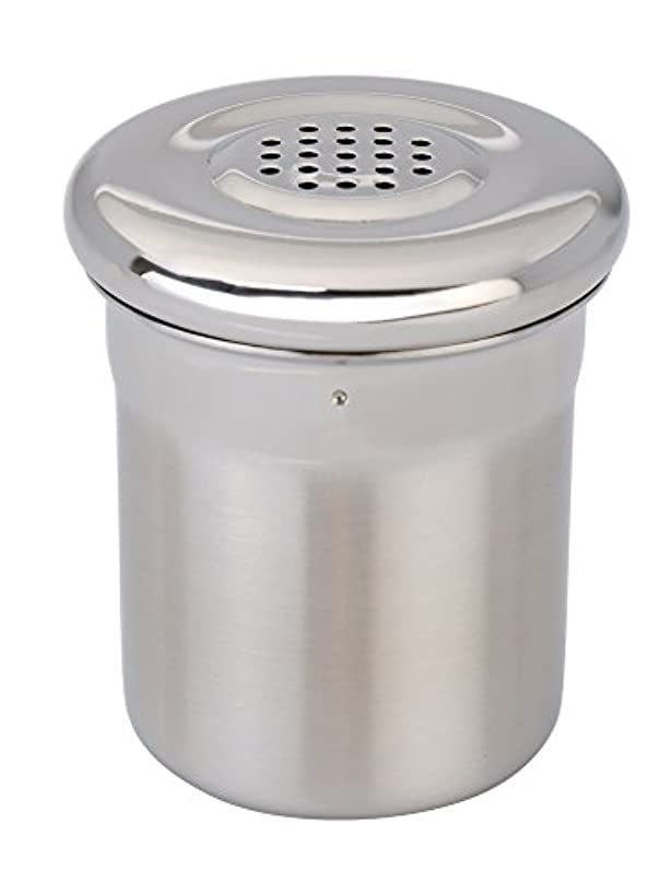 Berghoff Essential Icing Sugar, Cinnamon or other Spices Dispenser, Satin, Stainless Steel Icing Sugar Shaker, with Convenient Easy-open Lid - Dishwasher Safe