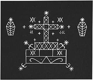 Baron Samedi Voodoo Veve Back Patch - Gothic Metal Occult Punk Skeleton Wicca Pentagram Demonic Dragon Demon Evil Goat Mendes Skull Goat's Head Satan Satanic Devil Baphomet Sigil of Lucifer Inverted