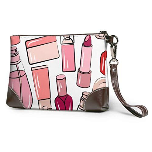 XCNGG Weiche wasserdichte einzigartige Clutch Bag Bunte Nagellack Leder Telefon Wristlet mit Reißverschluss für Frauen Mädchen