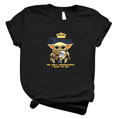 Baby Yodα Hold Coroona Extra Beer The Only Córónávírús I Want To Get Shirt – Yodα Baby Drink Coroona Beer Yodα Best Shirt For Men Tee For Women Handmade Shirt C T Shirt 5060