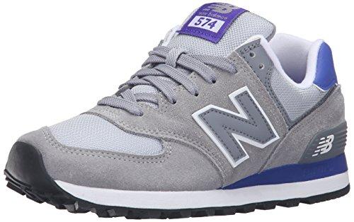 New Balance New Balance Damen 574 Laufschuhe, Mehrfarbig (Grey/Purple 059Grey/Purple 059), 35 EU