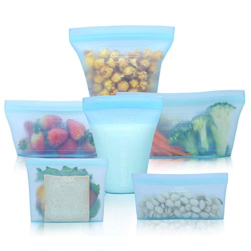Reusable food container silicone bag, Upgrade second...