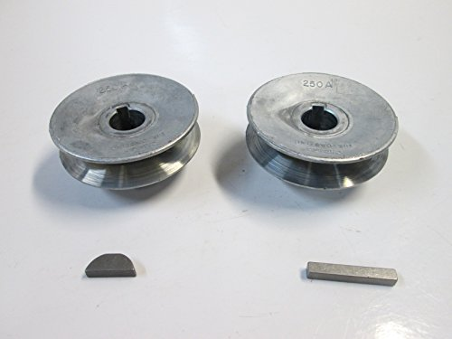 "Craftsman Belt Drive Contractor Table Saw 2 1/2"" Pulley Set with Keys for 5/8"" Arbor or Pulley Shaft"