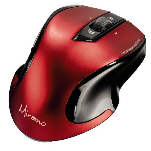 Hama Mirano Wireless Laser Maus (800/1600dpi), ohne Klickgeräusche, rot/schwarz