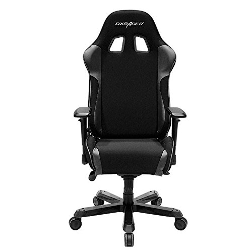 DXRacer OH/KS11/N Black King Series Gaming Chair Ergonomic High Backrest Office Computer Chair Esports Chair Swivel Tilt and Recline with Headrest and Lumbar Cushion + Warranty