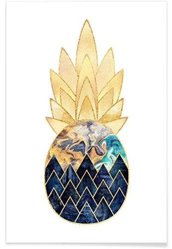 """JUNIQE® Ananas Poster 20x30cm - Design """"Precious Pineapple 1"""" entworfen von Elisabeth Fredriksson"""