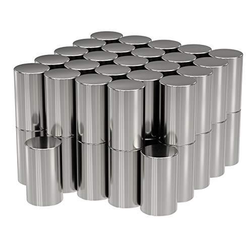 50x Neodym Power Magnet Silber - Stabmagnet extra stark lang - Durchmesser 3x5mm lang - Starke Magneten Supermagnet - Haftkraft ca. 0,5 kg - Magnete für Whiteboard, Pinnwand, Magnettafel, Werkstatt