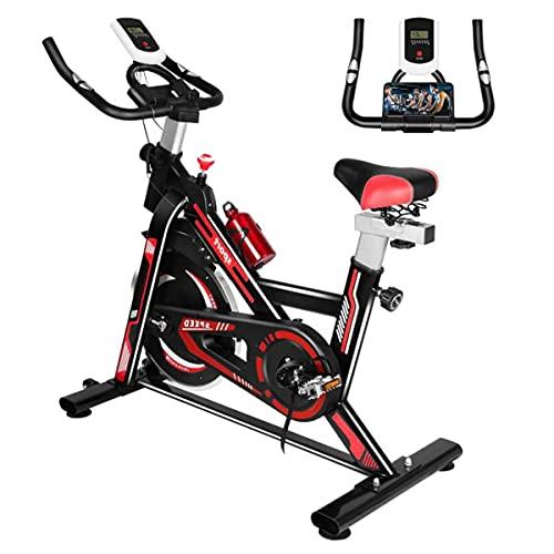 Bicicleta Estatica Spinning Bicicleta Profesional para Uso Domestico con Volante de Inercia de 8 kg, Pantalla LCD, Manillar y Sillín Ajustables hasta 100 Kg