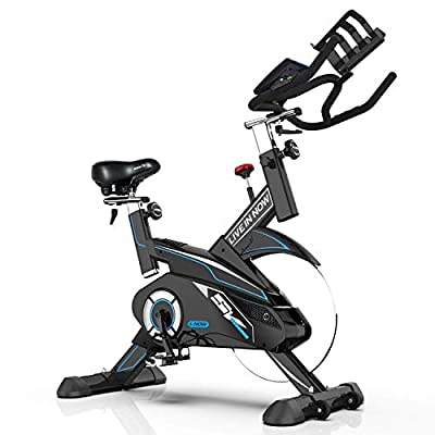 L Now Indoor Cycling Bike - Professional Home Cardio Gym Sports HIIT Training System with Pulse and LCD Display
