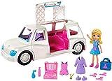 Polly Pocket GDM19 - Modespaß Limousine mit Make-up und Modezubehör, Puppen Spielzeug ab 4 Jahren