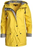 Urban Republic Women's Lightweight Vinyl Hooded Raincoat Jacket, Soft Yellow, Large'