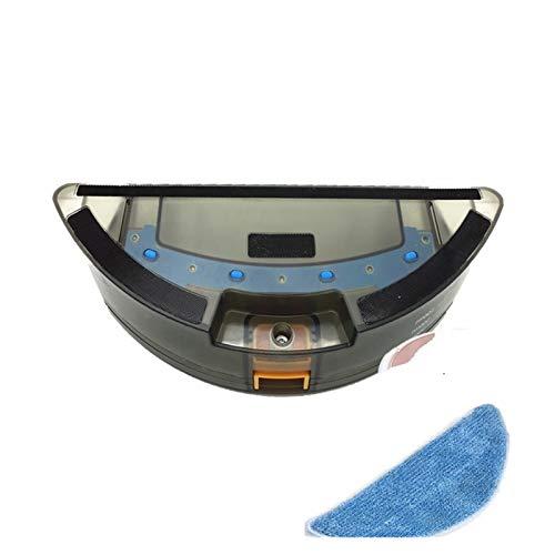 ZRNG Tanque de Agua 1x + 1x Paños de mopas de reemplazo Adecuado para la Excelencia Conga 990 Piezas de aspiradora robótica Seca La instalación es Simple y fácil de Usar.