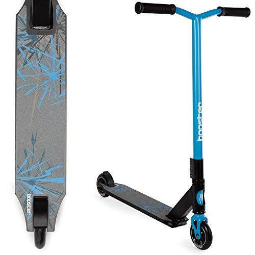 Bopster Stuntroller 360 drehbarer Spin Leichtgewicht Freestyle Wide Bar Sportdeck - Blau
