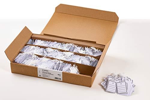 HERMA 6821 Warenanhänger mit Öse und Faden (40 x 50 mm, klein, Fadenlänge ca. 8 cm) Anhängeschilder aus Karton zum Beschriften, 1.000 Preisetiketten, weiß