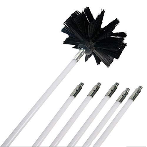 Mrinb Kit de cepillo y varillas de nailon para chimenea, herramienta de...