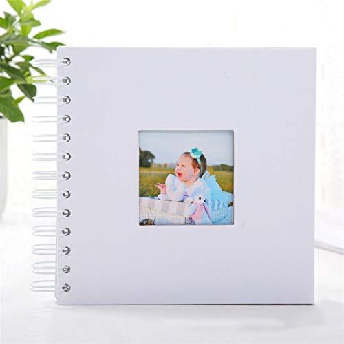 PPCERY 2020 Álbum de Fotos Álbumes de Aniversario Álbumes de Fotos creativos 40 páginas FotoAlbums Scrapbook Album Paper Fot Fotografía (Color : White Photo Album)