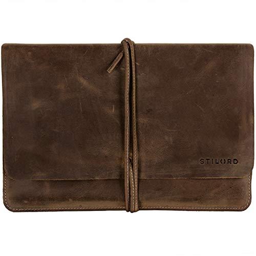 STILORD \'Collin\' Vintage Tablettasche Leder Universal für 9.7-10.1 Zoll Tablethülle Schutz Organizer Ledertasche echtes Rindsleder, Farbe:mittel - braun