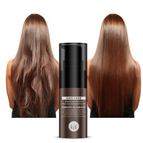Symeas Maroc Argan Oil Soin des Cheveux Essence Oil Repair Cheveux Endommagés Améliorez le Traitement Nourrissant Premium pour Cheveux Roux Creux, pour les cheveux secs et abîmés