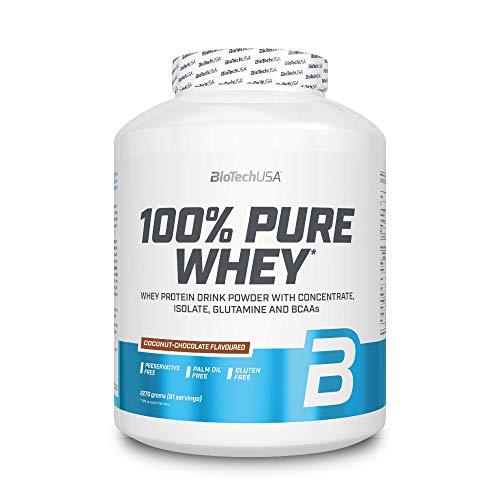 BioTech 100% Pure Whey Proteínas de Suero de Leche, Sabor Coco y Chocolate - 2270 gr