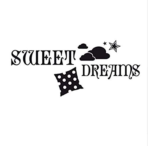 Muursticker PVC Sweet Dreams Muurstickers Cloud Stars Kussen Vinyl DIY Home Decor Muursticker Babykamer 100 * 44Cm