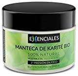 Essenciales - Manteca de Karité BIO, Certificado ECOLÓGICO, 130 g | Aceite Vegetal Butyrospermum Parkii