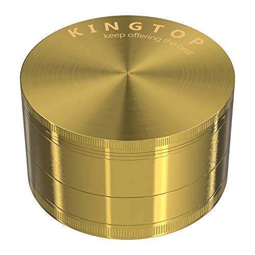 Kingtop Herb Spice Grinder Large 3.0 Inch Gold