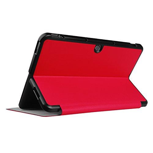Kepuch Custer Hülle für ASUS Transformer Mini T102HA,Smart PU-Leder Hüllen Schutzhülle Tasche Case Cover für ASUS Transformer Mini T102HA - Rot