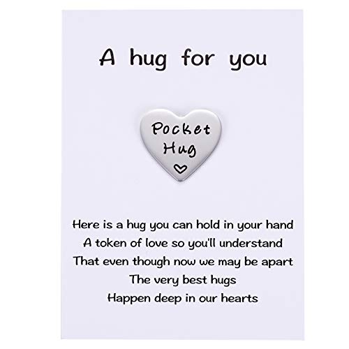 MIXJOY Heart Pocket Hug Keepsake Token, Social Distance Isolation Gifts, Missing You, NHS Gift for Family and Friends Lockdown