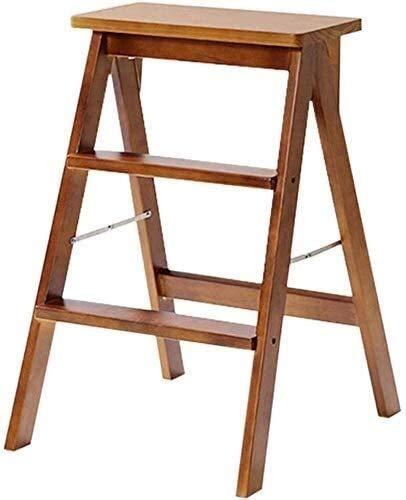 Sedia for Adulti ad Alta sede Scaffale a scalini di Legno Solido Ampliata Sicurezza Pieghevole scaffalature scaletta della Famiglia della Cucina Ascend Coperta, Passo Sgabello con la Maniglia