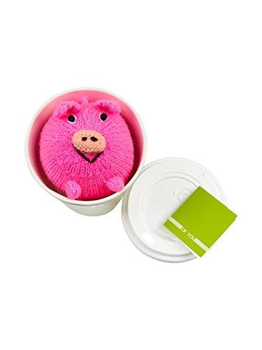 titicaca Glücksschwein in einem Glück to go Glücksbringer mit einem Schwein als Stofftier