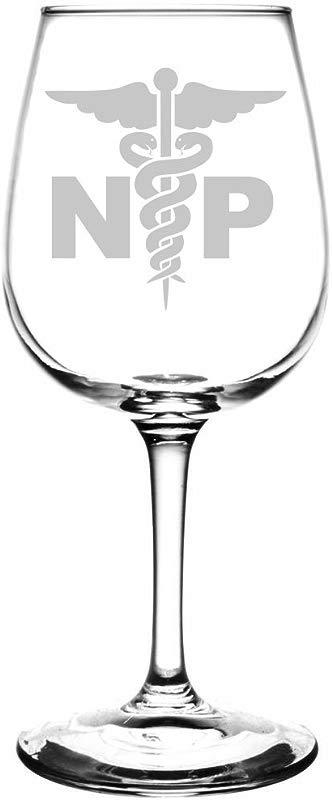 Nurse Practitioner NP Laser Etched Wine Taster Glass