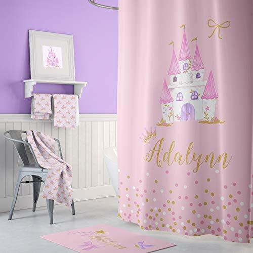 Zachrtroo Prinzessin Duschvorhang personalisierte Duschvorhang Kinder Bad Kinder Handtuch Prinzessin Room Decor Mädchen Zimmer Tiara Krone