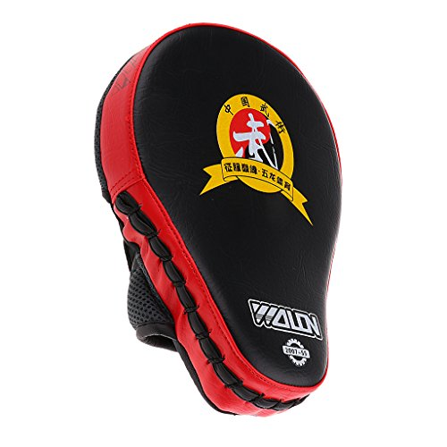 magideal Leder MMA Boxen Handschuhe Focus Target Stanzen Pad Training Handschuhe für Karate Muay Thai Kick Sparring Martial Arts, rot
