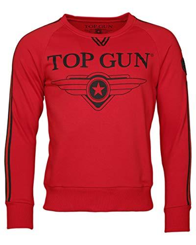 Top Gun Herren Sweatshirt Kapuzenpullover TG2019-1013 (L, Red)