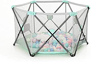 Teppichks Children s Folding Fence Indoor Game Fence Baby Protective Safety Fence Portable Crawling Mats Step Bar Home