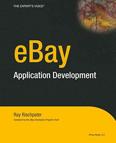 eBay Application Development (Expert's Voice)