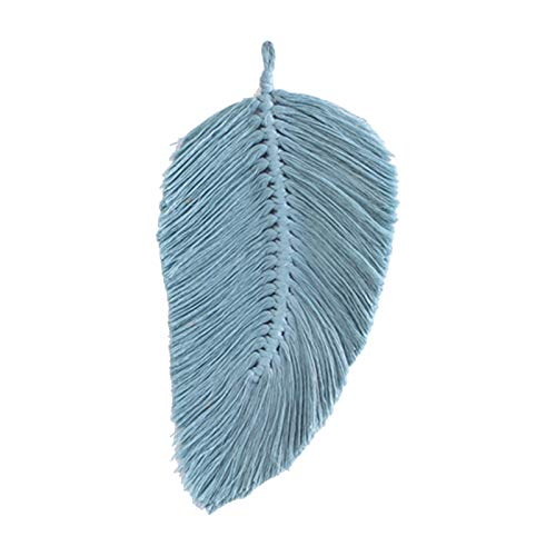 S-TROUBLE Elegant Hand-woven Tassels Leaves Bedroom Wall Hanging Pendant Art Wall Accents Decor Long Tassel Crafts Chic Boho Dorm Room Home Decoration