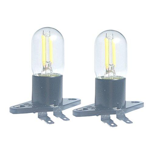 LED-Glühlampe 1,5 W, Z187-Mikrowellenbirne, 240 V, äquivalente Glühlampen mit 20 W für Galanz-Kühlschrank, Mikrowellenherd, elektrische Dunstabzugsleuchte, 2 PACK,Z187,5000K DAYLIGHT 1.5watts