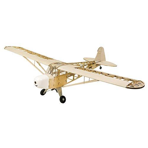 DW Hobby RC Avión J3 Envergadura 1800 mm Balsa Madera Avión Modelo de Construcción Woodiness Avión Kit + Sistema eléctrico + Cubierta S1404B