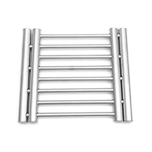 Edelstahl-Untersetzer für heiße Pfannen, dehnbare Wärmedämmung, Metall-Topfmatte, Küchenarbeitsplattenschutz