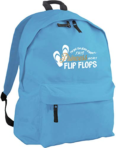 HippoWarehouse Forget The Glass Slippers This Princess Wears Flip Flops Backpack ruck Sack Dimensions: 31 x 42 x 21 cm Capacity: 18 litres