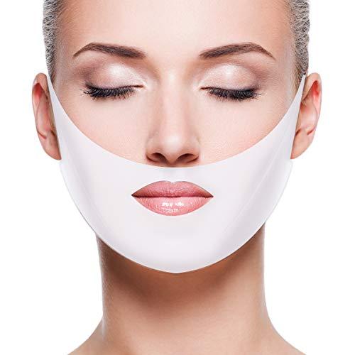 COMTERVI 5 PCS Masque Visage V Forme Masque Soulever Masque Hydratant Raffermissant pour Lifting Menton Anti-vieillissement