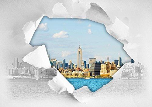 FORWALL AMF11855_VEN New York Papier Peint intissé Motif Ville de New York Photo Wallpaper Mural, Non-tissé, Bunt,Weiss, V8 (368cm. x 254cm.)