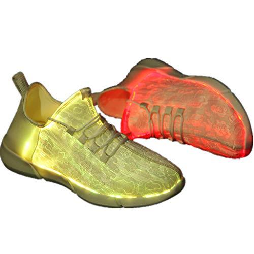 Lucky Mall Unisex Mode Sneaker mit Led-Licht, 7-farbige Beleuchtung, Frauen Mesh Atmungsaktive Turnschuhe Männer Weich Sportschuhe Sommer Laufschuhe Outdoor Freizeitschuhe