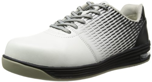 [ミドリ安全] 安全作業靴 JSAA認定 エアクッション付き プロスニーカー WPA110 メンズ ホワイト&ブラック 23.0 cm 3E
